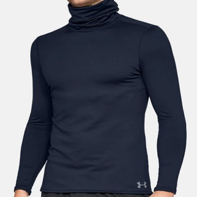 adb5e0624158d5 Under Armour Coldgear Fitted Funnel Neck Compression Mock 2018 1320807-408  Navy
