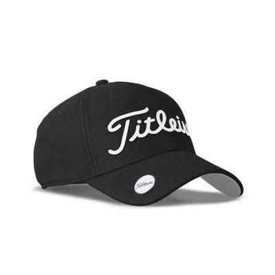 895c43063b7f1 Titleist Performance Ball Marker Adjustable Cap Black White 2018 TH7PBMEA  Headwear
