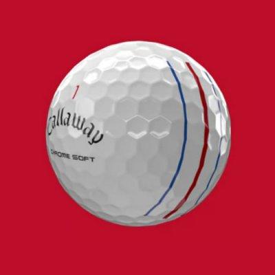 Callaway Chrome Soft Triple Track Golf Ball 2021 White