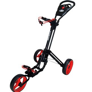 Skymax Qwikfold 3.0 Push Golf Trolley - Black/Red + Free Gift
