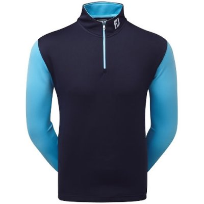 Footjoy Double Layer Contrast Chill-out Pullover 2017 92607 Navy/SkyBlue&White