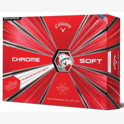 Callaway Chrome Soft Truvis Golf Ball 2019 White/Red