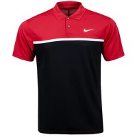 Nike Dry Victor Colour Block Polo Shirt 2020 BV0369 609 Sierra Red/Black