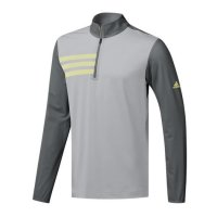 adidas 3-Stripes Mesh Collar 1/4 Sweater 2019 DQ2421 Grey