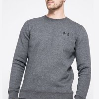Under Armour Rival Solid Fitted Crew Jumper 2020 1302854 Grey