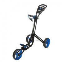Skymax Qwikfold 3.0 Push Golf Trolley - Black/Blue + Free Gift