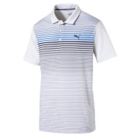 Puma Highlight Stripe Polo Shirt 2019 575811 01 Marina