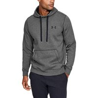 Under Armour Rival Solid Fitted Pull Over Hoodie Jumper 2020 1302854 Grey