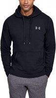 Under Armour Rival Solid Fitted Pull Over Hoodie Jumper 2020 1302854 Black