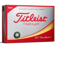 Titleist DT Trusoft Personalised Golf Balls 2018 White FREE PERSONALISATION