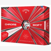 Callaway Chrome Soft Truvis Golf Ball 2018 White/Red