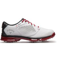 Callaway Golf Mens Xfer Nitro Golf Shoes M130 White/Grey/Red